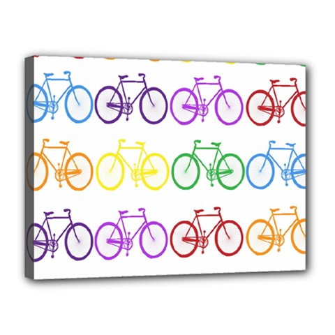 Rainbow Colors Bright Colorful Bicycles Wallpaper Background Canvas 16  X 12