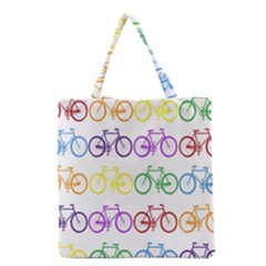 Rainbow Colors Bright Colorful Bicycles Wallpaper Background Grocery Tote Bag