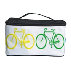 Rainbow Colors Bright Colorful Bicycles Wallpaper Background Cosmetic Storage Case