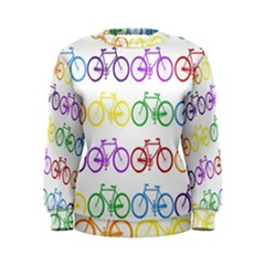 Rainbow Colors Bright Colorful Bicycles Wallpaper Background Women s Sweatshirt