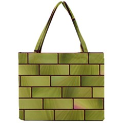 Modern Green Bricks Background Image Mini Tote Bag