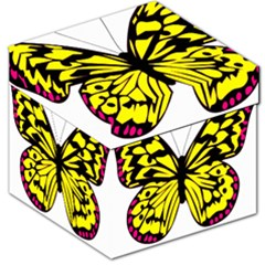 Yellow A Colorful Butterfly Image Storage Stool 12