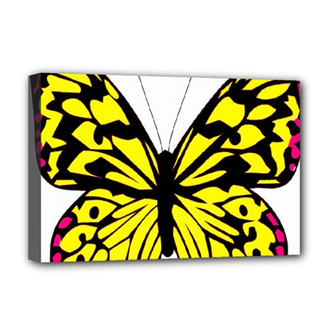 Yellow A Colorful Butterfly Image Deluxe Canvas 18  x 12