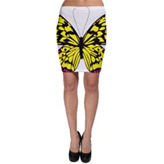 Yellow A Colorful Butterfly Image Bodycon Skirt
