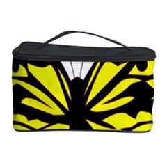 Yellow A Colorful Butterfly Image Cosmetic Storage Case