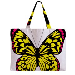 Yellow A Colorful Butterfly Image Zipper Mini Tote Bag