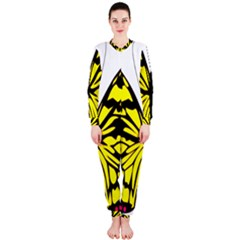 Yellow A Colorful Butterfly Image OnePiece Jumpsuit (Ladies)