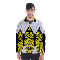 Yellow A Colorful Butterfly Image Wind Breaker (men)