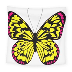 Yellow A Colorful Butterfly Image Square Tapestry (large)