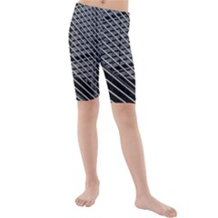 Abstract Architecture Pattern Kids  Mid Length Swim Shorts