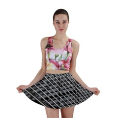 Abstract Architecture Pattern Mini Skirt