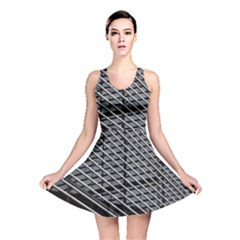 Abstract Architecture Pattern Reversible Skater Dress
