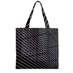 Abstract Architecture Pattern Zipper Grocery Tote Bag