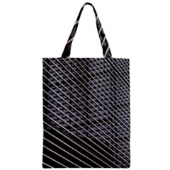 Abstract Architecture Pattern Zipper Classic Tote Bag