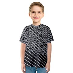 Abstract Architecture Pattern Kids  Sport Mesh Tee