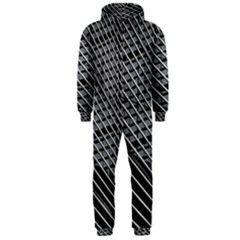 Abstract Architecture Pattern Hooded Jumpsuit (men)