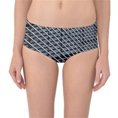 Abstract Architecture Pattern Mid-Waist Bikini Bottoms