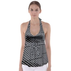 Abstract Architecture Pattern Babydoll Tankini Top