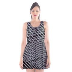 Abstract Architecture Pattern Scoop Neck Skater Dress