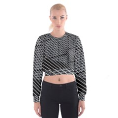 Abstract Architecture Pattern Women s Cropped Sweatshirt