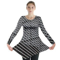 Abstract Architecture Pattern Long Sleeve Tunic