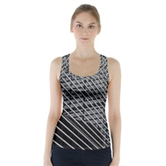 Abstract Architecture Pattern Racer Back Sports Top