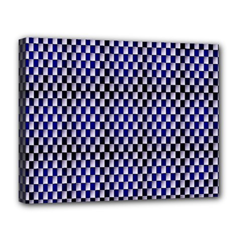 Squares Blue Background Canvas 14  x 11