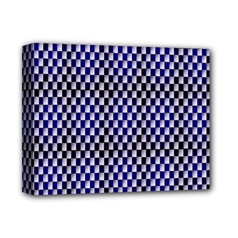 Squares Blue Background Deluxe Canvas 14  x 11