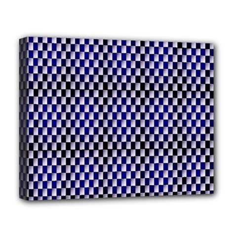 Squares Blue Background Deluxe Canvas 20  x 16