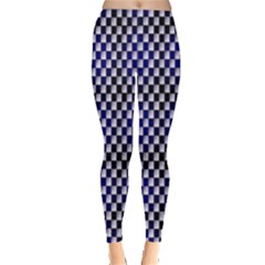 Squares Blue Background Leggings