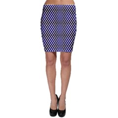 Squares Blue Background Bodycon Skirt