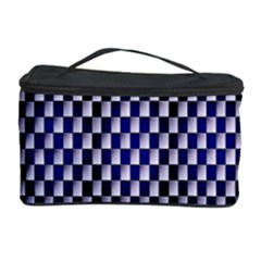 Squares Blue Background Cosmetic Storage Case