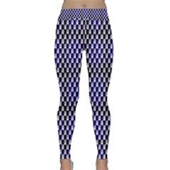 Squares Blue Background Classic Yoga Leggings