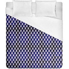 Squares Blue Background Duvet Cover (california King Size)