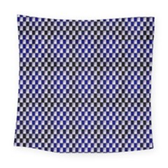 Squares Blue Background Square Tapestry (large)