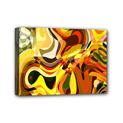 Colourful Abstract Background Design Mini Canvas 7  X 5