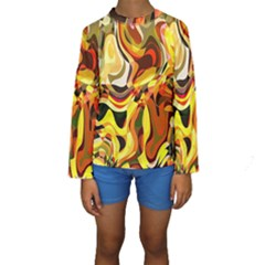 Colourful Abstract Background Design Kids  Long Sleeve Swimwear