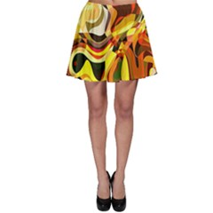 Colourful Abstract Background Design Skater Skirt