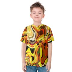 Colourful Abstract Background Design Kids  Cotton Tee