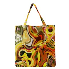 Colourful Abstract Background Design Grocery Tote Bag