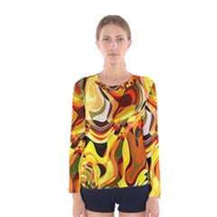 Colourful Abstract Background Design Women s Long Sleeve Tee