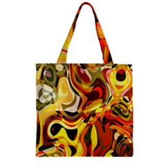 Colourful Abstract Background Design Zipper Grocery Tote Bag