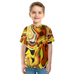 Colourful Abstract Background Design Kids  Sport Mesh Tee