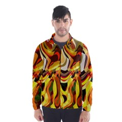 Colourful Abstract Background Design Wind Breaker (Men)