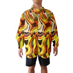 Colourful Abstract Background Design Wind Breaker (Kids)