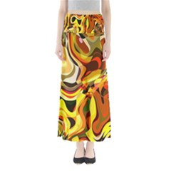 Colourful Abstract Background Design Maxi Skirts