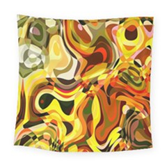 Colourful Abstract Background Design Square Tapestry (large)