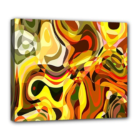 Colourful Abstract Background Design Deluxe Canvas 24  x 20