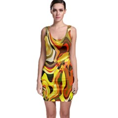 Colourful Abstract Background Design Sleeveless Bodycon Dress