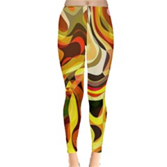 Colourful Abstract Background Design Leggings